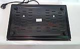Електроплита настільна побутова DSP KD-4047, компактна кухонна потужна плита на 2 конфорки дискова, фото 9