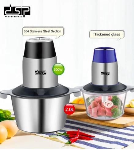 Измельчитель электрический для мяса, овощей и фруктов, кухонный двойной блендер чоппер DSP KM4024