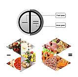 Измельчитель электрический для мяса, овощей и фруктов, кухонный двойной блендер чоппер DSP KM4024, фото 5