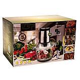 Измельчитель электрический для мяса, овощей и фруктов, кухонный двойной блендер чоппер DSP KM4024, фото 6