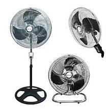 Вентилятор электрический бытовой напольно-настольный Domotec MS-1622/16 для дома и офиса 2 в 1