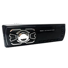 Автомагнитола с ауксом MP3 1 Din, с часами, usb и bluetooth 1408BT + пульт, Автомобильный FM приемник
