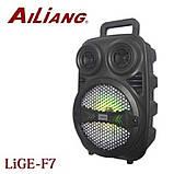 Беспроводная аккумуляторная колонка чемодан Ailiang LiGE-F7, портативная Bluetooth акустика с усилителем, фото 3