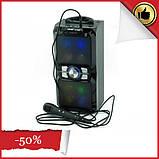 Аккумуляторная мобильная акустическая система NNS-1503BT, портативная акустика с микрофоном для караоке, фото 2