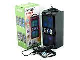Аккумуляторная мобильная акустическая система NNS-1503BT, портативная акустика с микрофоном для караоке, фото 3