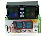 Аккумуляторная мобильная акустическая система NNS-1503BT, портативная акустика с микрофоном для караоке, фото 4