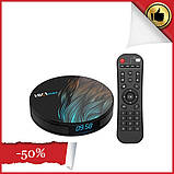 Android 9.0 Smart TV box, андроїд ТВ-приставка, медіаплеєр для телевізора, тюнер, смарт бокс ULTRA HD max HK1, фото 2