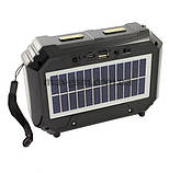 Компактный радиоприемник колонка Golon RX-333BTS, карманный приемник колонка с солнечной батареей, USB и SD, фото 2