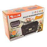 Компактный радиоприемник колонка Golon RX-333BTS, карманный приемник колонка с солнечной батареей, USB и SD, фото 5