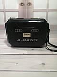Компактный радиоприемник колонка Golon RX-333BTS, карманный приемник колонка с солнечной батареей, USB и SD, фото 6