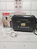 Компактный радиоприемник колонка Golon RX-333BTS, карманный приемник колонка с солнечной батареей, USB и SD, фото 9