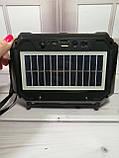 Компактный радиоприемник колонка Golon RX-333BTS, карманный приемник колонка с солнечной батареей, USB и SD, фото 10
