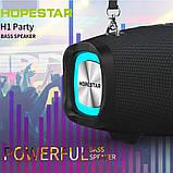 Вологостійка велика потужна портативна bluetooth колонка hopestar з мікрофоном, USB, SD, FM радіо H1 Party, фото 5
