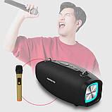 Вологостійка велика потужна портативна bluetooth колонка hopestar з мікрофоном, USB, SD, FM радіо H1 Party, фото 6