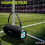 Вологостійка велика потужна портативна bluetooth колонка hopestar з мікрофоном, USB, SD, FM радіо H1 Party, фото 10