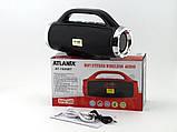 Небольшая портативная беспроводная колонка Atlanfa 1829BT с радио, USB, SD, Bluetooth, дисплеем, сабвуфером, фото 3