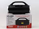 Небольшая портативная беспроводная колонка Atlanfa 1829BT с радио, USB, SD, Bluetooth, дисплеем, сабвуфером, фото 4