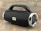 Небольшая портативная беспроводная колонка Atlanfa 1829BT с радио, USB, SD, Bluetooth, дисплеем, сабвуфером, фото 9