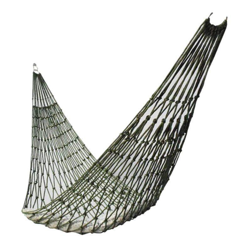 Гамак сітчастий мотузковий, Темно-зелений (хакі)