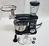 Міксер планетарний, потужний кухонний комбайн DSP KM3031 з електричною м'ясорубкою, тестомесом, блендером 3 в, фото 6