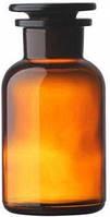 Бутыль для реактивов 125 мл, широкое горло, темное стекло