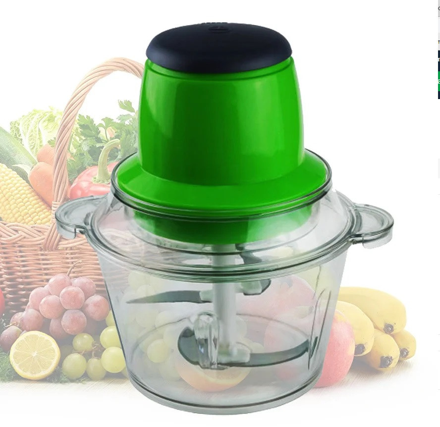 Кухонный электрический блендер двойной измельчитель, Молния от LEOMAX для мяса овощей и фруктов чоппер