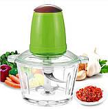 Кухонный электрический блендер двойной измельчитель, Молния от LEOMAX для мяса овощей и фруктов чоппер, фото 3