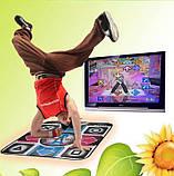 Ігровий танцювальний килимок з usb для танців до ПК комп'ютера телевізору DANCE MAT для дітей і дорослих, фото 3