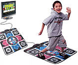 Ігровий танцювальний килимок з usb для танців до ПК комп'ютера телевізору DANCE MAT для дітей і дорослих, фото 6