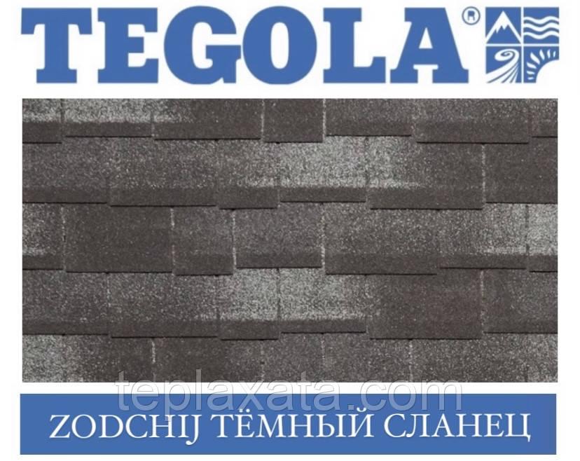 Черепиця TEGOLA (Premium) Zodchij Темний сланець