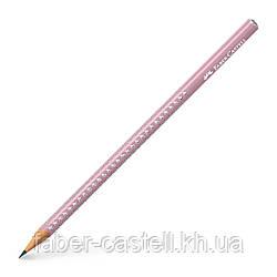 Карандаш чернографитный Faber-Castell Grip Sparkle Rose shadows, розовый корпус, 118234