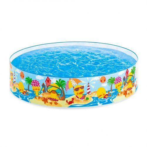 """Детский бассейн с каркасом """"Утиный риф"""" 58477, Intex"""