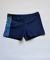 Подростковые, детские плавки-шорты для мальчика на бедра от 76 до 92 см цвет Темно-синий