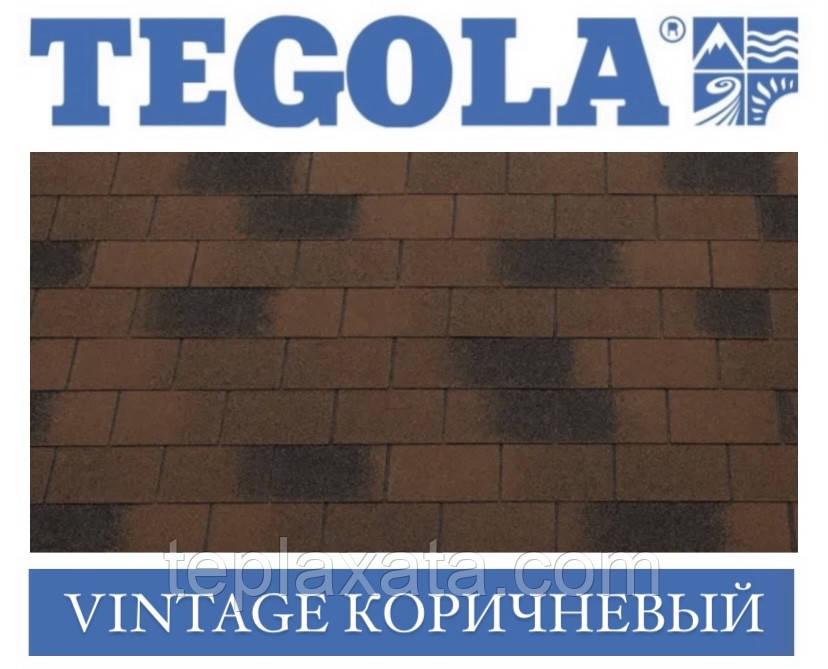 Черепица TEGOLA (Top-Shingle) Vintage Коричневый