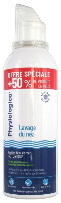 Спрей с морской водой Gifrer Physiologica Solution d'Eau de Mer Isotonique 150 ml