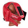Боксерський шолом турнірний PowerPlay 3084 червоний XL, фото 6