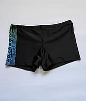 Підліткові, дитячі плавки-шорти для хлопчика на стегна від 76 до 92 см колір Чорний, фото 1