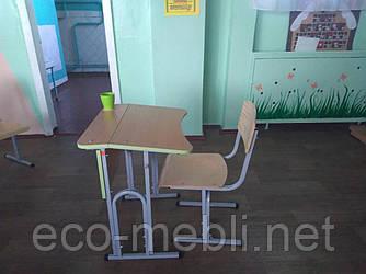 Комплект учнівських меблів одномісний для початкової і середньої школи