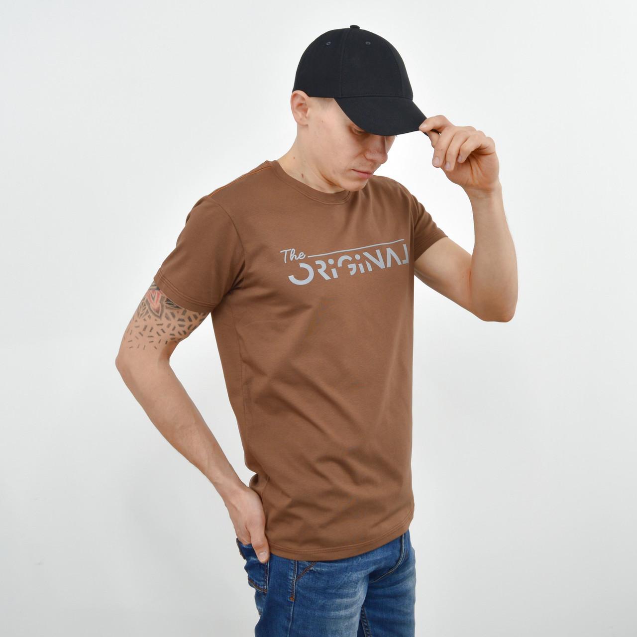Чоловіча футболка ORIGINAL коричневий