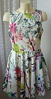 Платье женское шикарное легкое летнее хлопок мини бренд Closet р.48 4510
