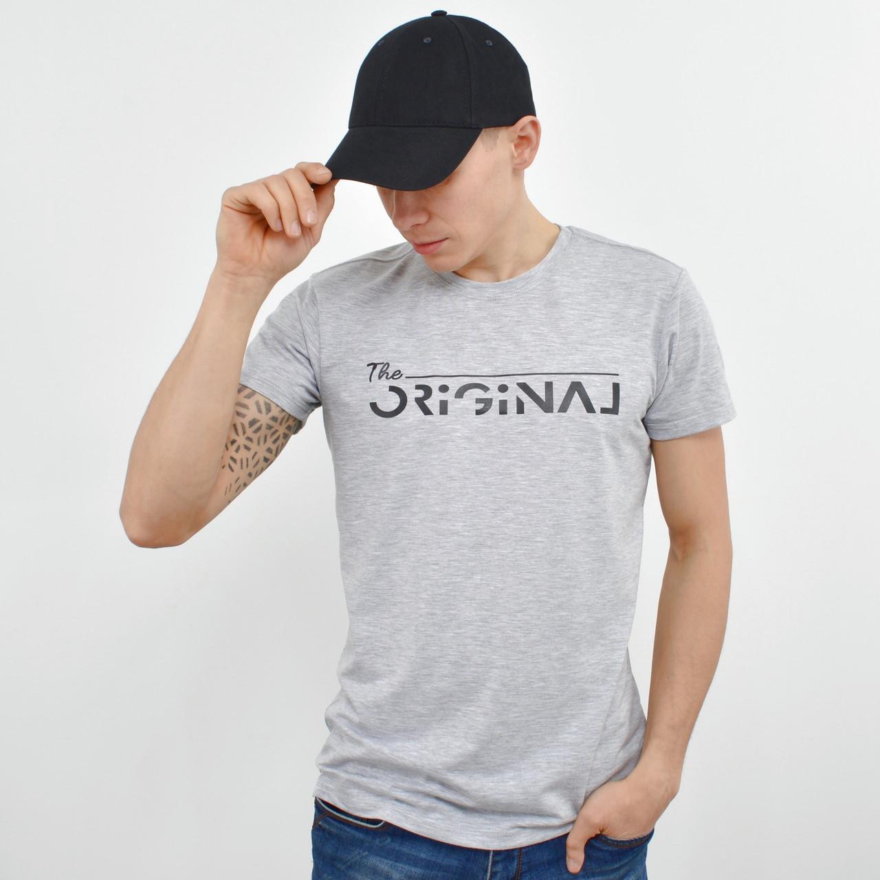 Мужская футболка ORIGINAL  светло серый меланж