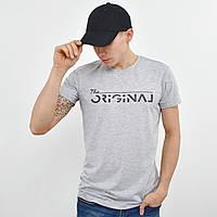 Мужская футболка ORIGINAL  светло серый меланж, фото 1