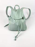 Жіночий м'ятний міський рюкзак з екошкіри TVх13