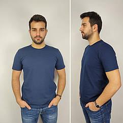 Мужская футболка батал, 52-58рр, синий