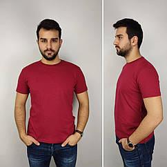 Мужская футболка батал, 52-58рр, бордо