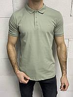 Мужская футболка-поло хаки Crown, фото 1