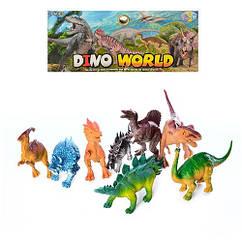 Динозаври 330-81 (72шт) 8шт, від 11см, в кульку, 19-35-6см