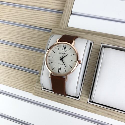 Geneva Silicone Brown-Cuprum-White