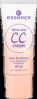 Essence тональная основа all-in-one cc cream clear & correct