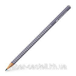 Карандаш чернографитный Faber-Castell Grip Sparkle Dapple gray, серый корпус, 118235